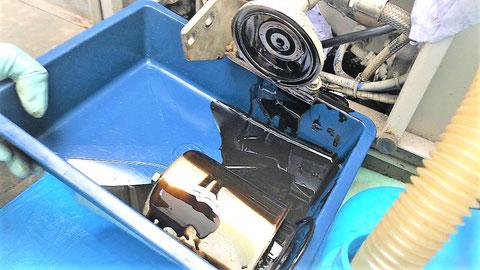 ヘドロ状のエンジンオイル自家発