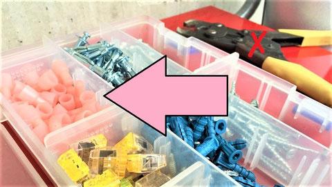 防災用のピンク色の耐熱圧着スリーブを使用