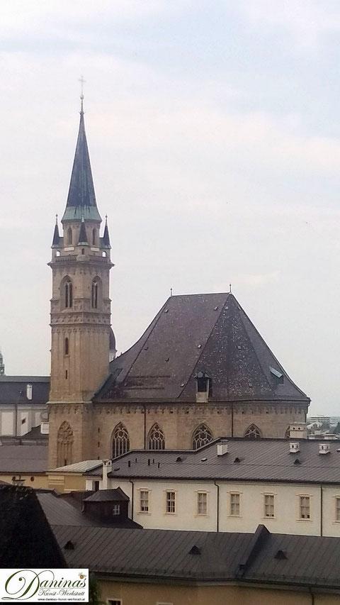 Salzburg, die schlanke gotische Franziskanerkirche