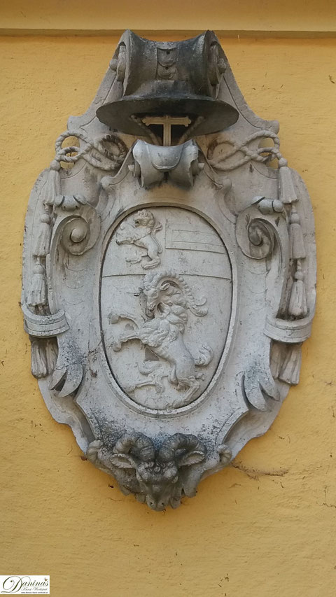 Salzburg - Wappen von Fürsterzbischof Markus Sittikus, Erbauer vom Schloss Hellbrunn
