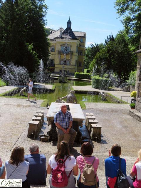 Salzburg Hellbrunner Wasserspiele - Tückische Spritzbrunnen und viel Spaß