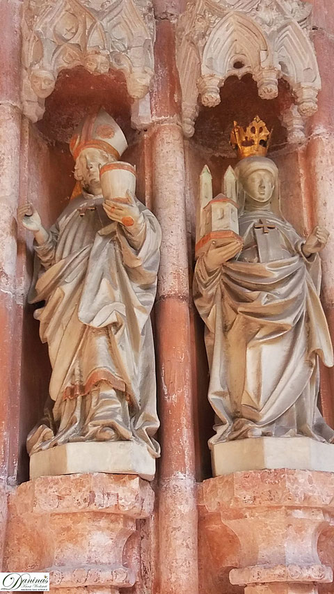 Salzburg, Stift Nonnberg, die Heiligen Rupert und Erentrudis.