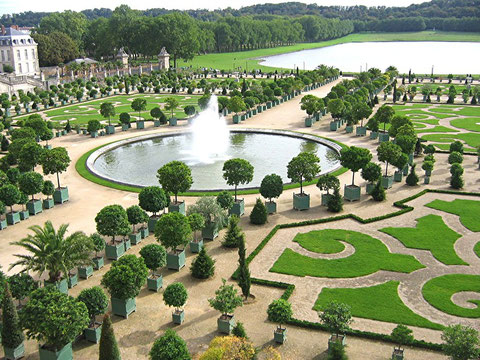 Parterres de l'Orangerie du château de Versailles