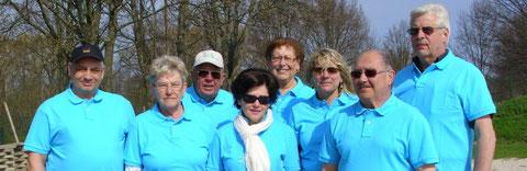 Das Ligateam v.l. Helmut, Karola, Wilhelm, Sigrid, Margot, Heike, Klaus, Walter - zum Team gehören außerdem Luzie, Marianne