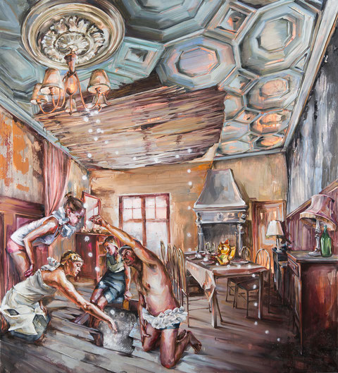 dauerbrenner, 200 x 200 cm, oil on linen,2012