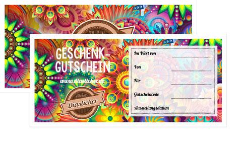 Geschenkgutschein für Diabetes Sticker