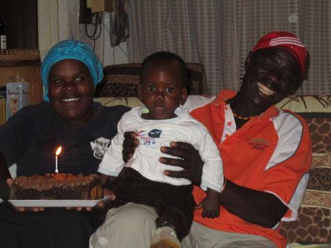 Primo compleanno di Moussa.