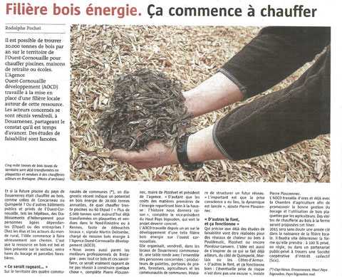 Le Télégramme - 28 Octobre 2014
