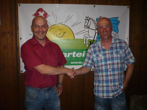 Urs Eberhard und Roland Rutz, nominierter Nachfolger für das frei werdende GPK-Mandat