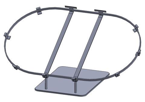 CAD-Entwurf einer Montage für eine Prunkschale