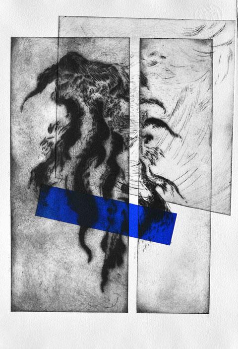 Trieben • 2021 • engraving print on paper • 39 x 26,5 cm