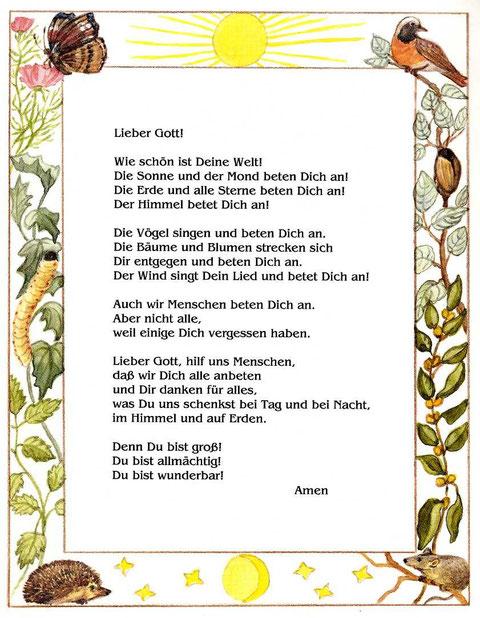 Kindergebete - Lieber Gott, Du bist wunderbar von Inge von Wedemeyer