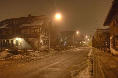 Wangentalstrasse am 24.12.2008 (Foto André Zaugg)