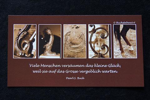 Postkarte - GLÜCK