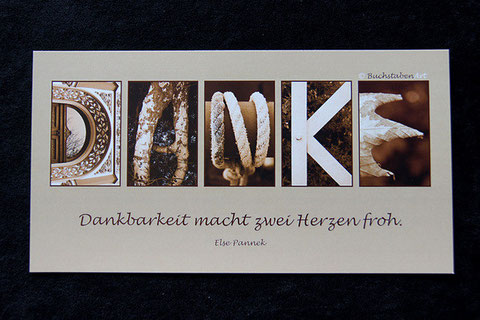Postkarte - DANKE
