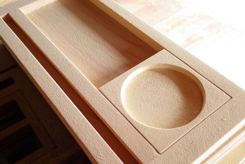端材で作った木製コースター&トレイ。