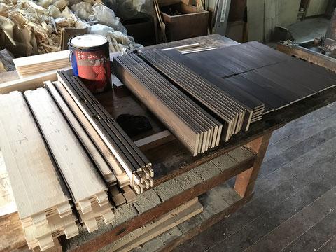 建具制作の途中経過①-1
