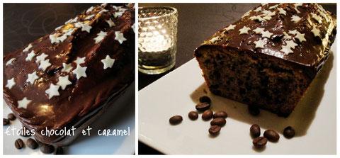 Un avant-goût des fêtes pour ce cake étoilé choco-caramel