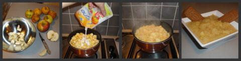 compote de pommes du marché