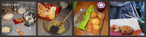 Chauds, croquants et moelleux mes cookies !