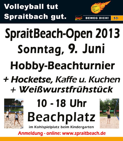 Plakat SpraitBeach-Open 2013