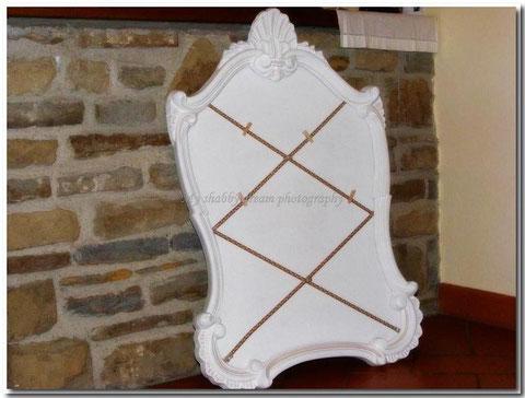 TA020  -  Tableau de Mariage Shabby Chic - Decorato a mano - misure 55 x 90 -  €  90,00