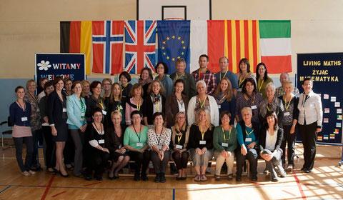 """COMENIUS Lehrertreffen """"living maths""""  in  Studzienice, Polen,  mit Lehrkräften aus 6 Ländern"""