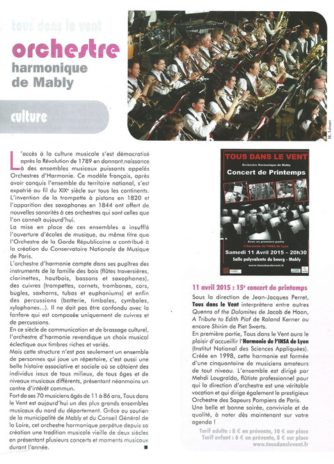 Bulletin municipal de Mably, Mars 2015