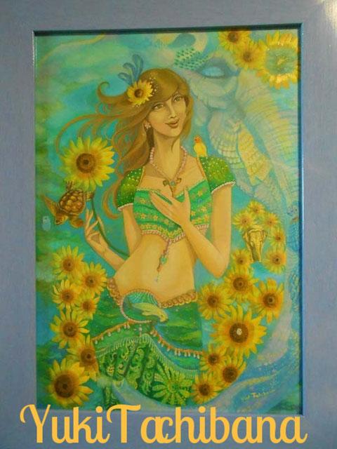 Sun flower 絵画 楽園のアート 立花雪 YukiTachibana