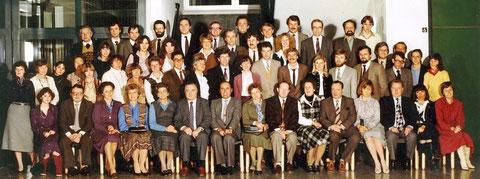 Das Kollegium im Jahr 1981