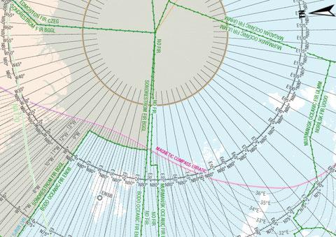Figura 5.22 - Zona di inattendibilità della bussola magnetica