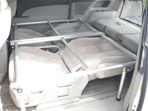 エスティマ 車中泊 フラットベッド トランポ キャンピング
