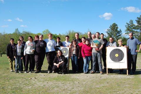 L'équipe d'Amilly avec le trophée