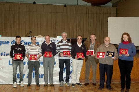 Les remises de récompenses aux organisateurs de championnats de ligue : Ingré, beaugency, Amilly et Sully (2fois).
