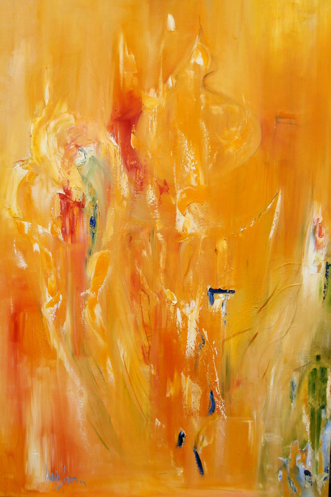 """""""Auflösung der Schatten""""  Ölbild  80B x 120H cm"""