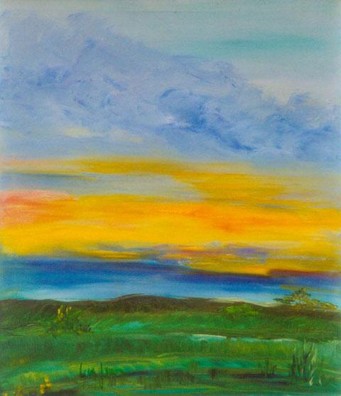 "Entre Rios, Argentinien, ""Sunset""   Ölbild/Leinwand    60B x 70H cm"