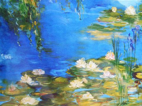 """""""Licht und Schatten"""" Ölbild  70 B x 60 H cm"""