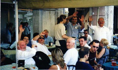 2001 - ... e dopo i concerti... la pausa! Marostica