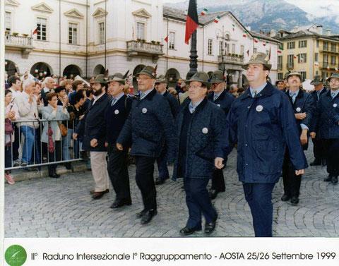 1999 - 26 settembre - Aosta - II° Raduno Intersezionale 1° Raggruppamento ANA