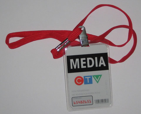 CTV Media Badge with Lanyard