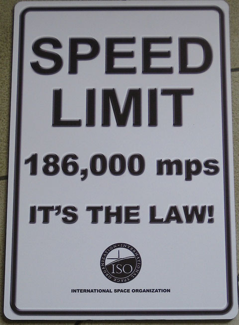 "ISO 186,000 mps Speed Limit Panel (12"" x 18"") !"