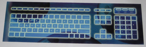 "Antares Keyboard Translight : 16.5"" x 5"""