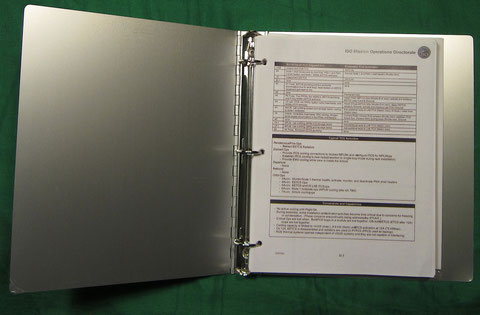 ISO Conference Room 3-hole Aluminum Binder with Documentation & Schematic