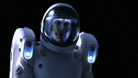 Ajay Sharma in Space Suit with MMU : Pilot