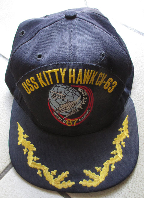 USS Kitty Hawk 1987 World Cruise souvenir cap