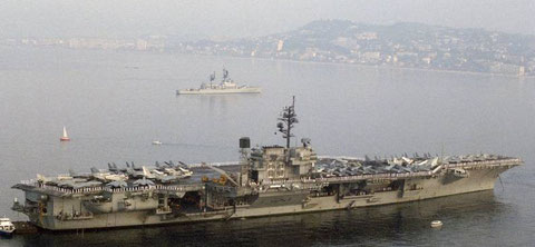 with CVW-9 embarked - Cannes, France - 1987