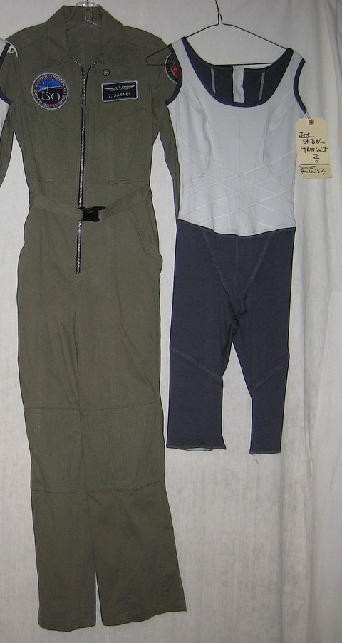 Zoe Barnes Antares Green Flight Suit + Gravity Suit