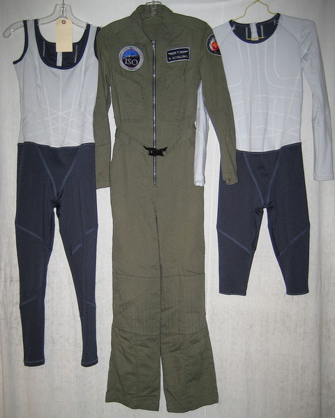 Nadia Schilling Antares Green Flight Suit + Gravity Suit + Male Hallucination Gravity Suit
