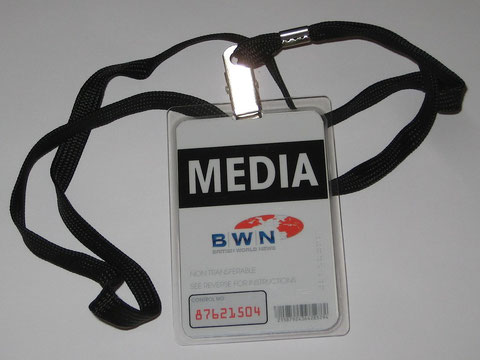 BWN Media Badge with Lanyard