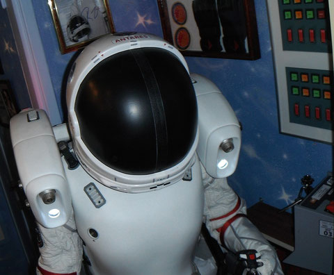 Background Helmet on Donner's Space Suit